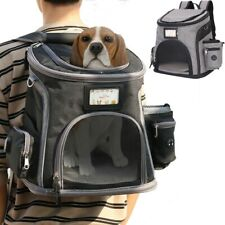 Breathable Pet Carrier Backpack Dog Cat Bag Outdoor Travel Packbag with Pockets