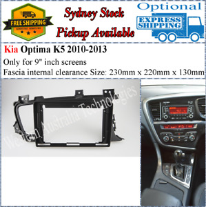 For 9 Nine Inch Screen Fascia facia Kia Optima 2010-2013 Dash Kit*