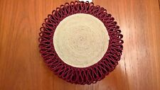 4pcs Straw Braided Coasters Mat Natural Handmade