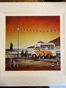 Adam Barsby Signed Limited Edition Print - Ice Cream Dream Lynmouth