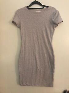 Kookai Grey Short Sleeve Bodycon Mini Dress Size 2