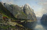 Norwegian Fjord by Anders Askevold. Landscape Art Made in U.S.A Giclee Prints