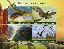 Chad 2018 MNH Flying Dinosaurs 4v M/S Dinosaur Stamps