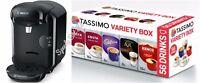Bosch Tassimo Vivy 2 T14 TAS1402GB 0.7 Litre, 1300 Watt Black + 56 ☕ Variety Box