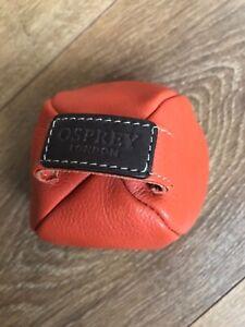 Osprey London Door Stop Orange Leather Home Door Stopper