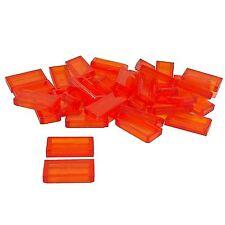 35 New Lego Tile 1 x 2 Bricks trans orange (Not neon)