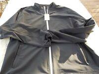 NWOT Peter Millar Crown Sport jacket, men's L, black, cinch strap, pockets