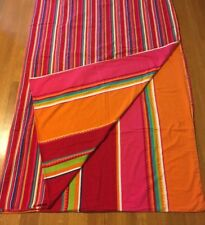 Pottery Barn Full / Queen Duvet Cover Reversible Bright Colorful Stripe Cotton