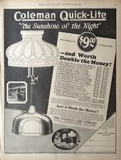 """1923 Ad.(Xd25)~Coleman Lamp Co. Coleman Quick-Lite """"The Sunshine Of The Night"""""""