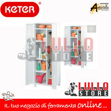 ARMADIO ARMADIETTO MOBILE BOX IN RESINA 2 ANTE P. SCOPE RATTAN 65X45X184H BIANCO