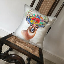 Deer Stag Flowers Animal Wilflife - Covers Pillow Cases Home Decor or Inner
