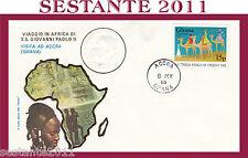 VATICANO FDC ROMA VIAGGIO GIOVANNI PAOLO II AFRICA VISITA ACCRA GHANA 1980 (539)