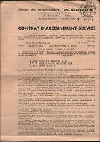 """PARIS (IX° Arrt.) Société des ACCUMULATEURS """"MONOPLAQUE"""" en 1939"""