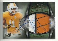 2013 Upper Deck Quantum #149 JUSTIN HUNTER Rookie Signature Patch #55/265