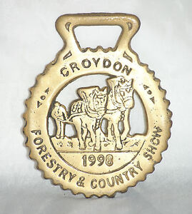 1998, Croydon - Country Show  [ Brass plaque ] 9.3cm H x 7.5cm W
