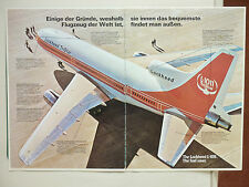 6/1975 PUB LOCKHEED L-1011 TRISTAR AIRLINER AIRLINE AIRCRAFT ORIGINAL GERMAN AD