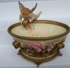 Franklin Mint Potpourri Bowl I Love You Truly Victorian Cherub Judith Winslow