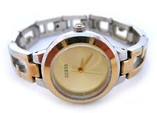 GUESS Watch Womens Ladies Watches Yellow Dial Gold Silver Bracelet Wristwatch