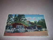 1930s LAKE MUSEUM at YELLOWSTONE NATIONAL PARK LINEN POSTCARD