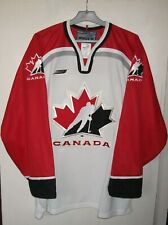Canada Ice Hockey Team Authentic Bauer Jersey Shirt L Made in Canada