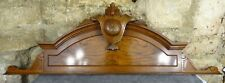 """43.3""""  Antique French Hand Carved Wood Walnut Pediment -"""