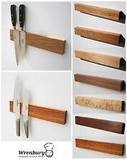 Wrenbury 15 Oak Solid Wood Magnetic Knife Rack Holder Handmade in The UK