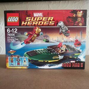 Brand New Lego Super Heroes 76006 Iron Man Extremis Sea Port Battle