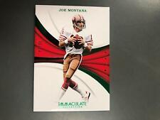 Joe Montana 2018 Immaculate Emerald Green Card #8/14 SF 49ers T21
