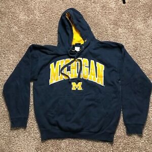 University of Michigan Blue OVB Hoodie Adult Mens Size Large