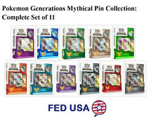 Pokemon Generations Mythical Collection Complete Set of 11 Booster Boxes Pins
