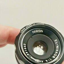 Clean NIKON EL-NIKKOR 50mm f/4 CP-2 Enlarging Lens w/ Case from Estate
