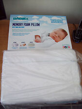 2 X BABY MEMORY FOAM PILLOWS & ZIPPED TOWELLING  COVERS  NEW &BOXED IDEAL TWINS