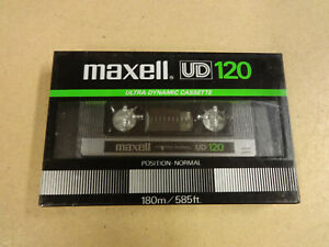 NEW & SEALED AUDIO CASSETTE MAXELL UD 120