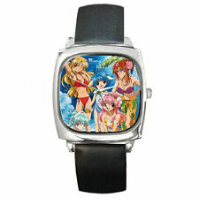 Anime galaxy angel hot girls leather wrist watch