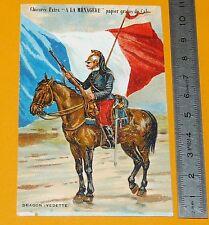 CHROMO 1900-1910 CHICOREE A LA MENAGERE CAMBRAI DRAGON (VEDETTE) MILITAIRE