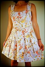 CUE clearance - summer dress, orange and yellow blossoms, women's size 14
