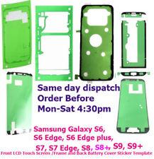Samsung Galaxy S6 s6 Edge plus S7 Edge S8 Front + Back Adhesive Sticker Tape OEM