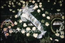 Funeral Casket With Wreath Ribbon FOR MY ELDEST SON Vintage 1961 Slide Photo