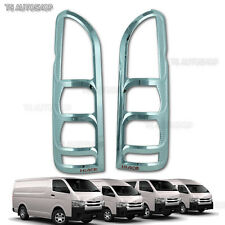 Chrome Red Tail Light Rear Lamp Cover Trim Fit Toyota Hiace Commuter 2005 - 2013