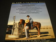 CLINT BLACK on horse chatting with babe at gas pump 1998 PROMO POSTER AD mint