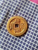 "chinese Qing Dy ""Kang Xi Tong bao"" bronze&gold Coins"