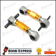 Gold Honda Rear Upper Camber Arm Kit - Civic 92-95 EG EK CRX INTEGRA - UK Stock