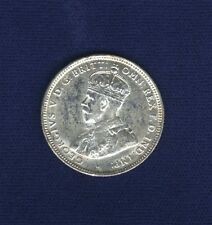 AUSTRALIA KING GEORGE V  1925  1 SHILLING SILVER COIN, ALMOST XF