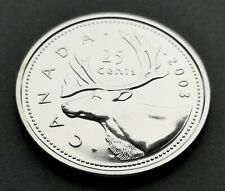 *** CANADA  25  CENTS 2003 P ***  FROM  MINT  SET ***