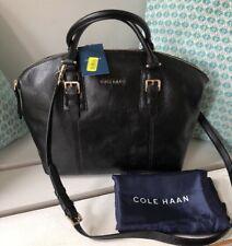 NEW Cole Haan Rockland Black Leather Satchel Top Handle/Crossbody Bag NWT