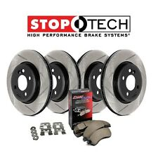 NEW Honda Civic Si Front Rear StopTech Slotted Brake Rotors + Pads Kit 934.40044