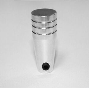 "Polished Billet Knob 3/16"" Hole Headlight Wiper Heat AC - Short 1-1/8"" long Univ"