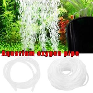 5m /10m Air Oxygen Pump Hose Pipe Tube Aquarium Air Fish Line Pond Tank N1C9