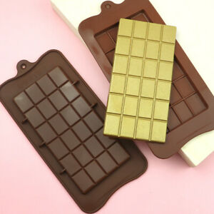 24 Chunk Sections Chocolate Bar Cake Candy Snap Professional Silicone Bake Mould