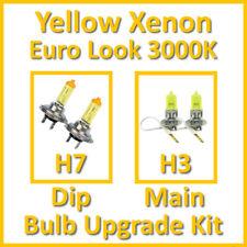 Warm White 3000K Yellow Xenon Headlight Bulb Set Main Dip Fog H7 H3 Kit